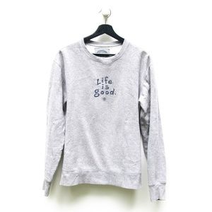 Life is Good | Unisex Gray Crew Neck Sweatshirt